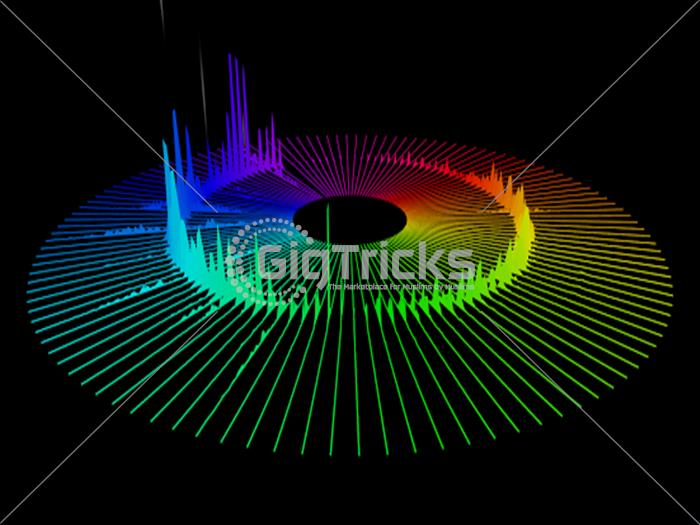 I Will Design Spectrum Music Visualizer from your Audio