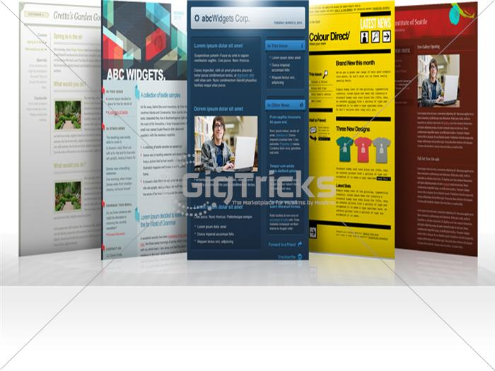 I Will Design An HTML Email Marketing For You Site